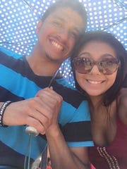 CONTRIBUTED/ADRIANA VELA Alex Martinez (left) was killed in a stabbing near a bar in the 3800 block of South Padre Island Drive on June 30, 2016. His girlfriend, Adriana Vela, said he was 'happy to be a father.'
