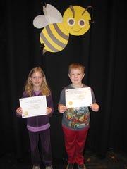 Hanlon Elementary School spelling bee champions Victoria