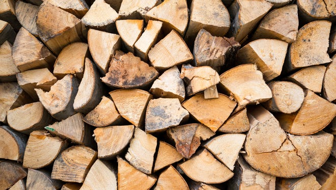 Chopped firewood logs ready for winter.