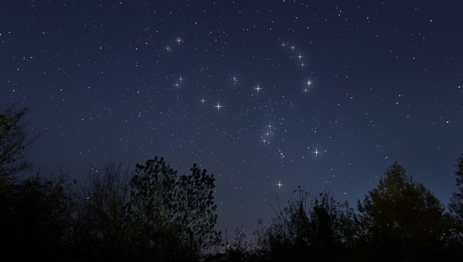 Orion is the dominant constellation high in the south.