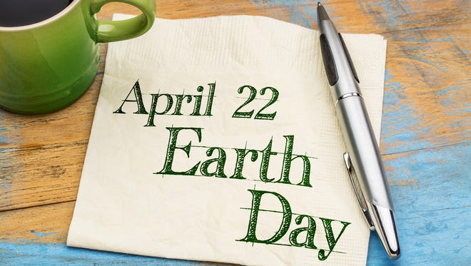 Stock art shows April 22 Earth Day.