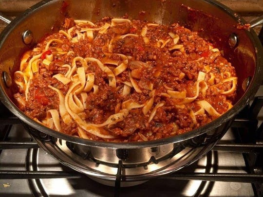 Maria Thomae's famous spaghetti sauce and fresh pasta