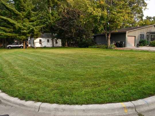 An empty lot sits where the home of Danny Heinrich once stood shown Thursday, Aug. 31, in Annandale.