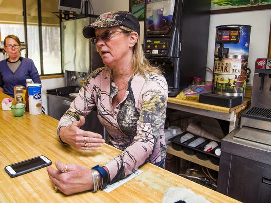 Joyce Kramer, a waitress at the Long Valley Cafe in