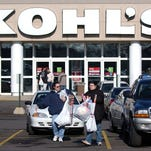 Shoppers leave a Kohl's department store in Columbus, Ohio.