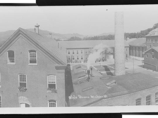 Panoramic of the Windsor State Prison taken by the Louis L. McAllister circa 1920.