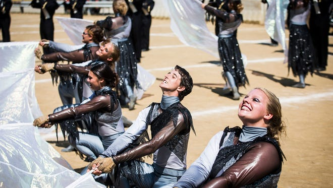 Winchester High School competes during Band Day at the State Fair Saturday.