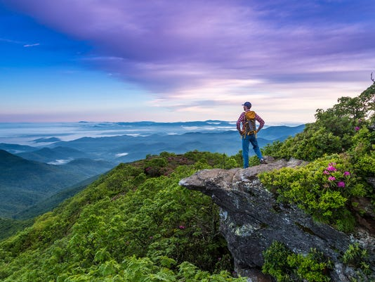 You will feel like you're top of the world in Asheville, North Carolina