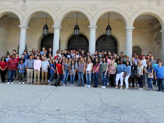Ninety-four freshmen and three transfer students gathered