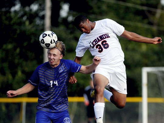 Lebanon's Felix Kortright-Roman (36) will move between keeper and forward this season for the undermanned Cedars.