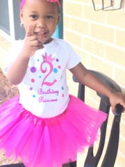 Javona Glover's daughter, 2-year-old Ja'Nya in this picture provided by glover's mother Jennifer Battles.