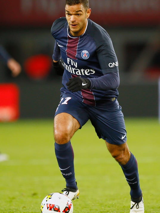 FILE - In this Sunday, Nov. 6, 2016 file photo, PSG's Hatem Ben Arfa runs with the ball during their French League One soccer match between PSG and Rennes at the Parc des Princes stadium in Paris, France. Defending champion Monaco's trip to Lyon on Friday Oct. 13, 2017, already feels like a turning point in what is shaping up as a difficult season. (AP Photo/Francois Mori, File)
