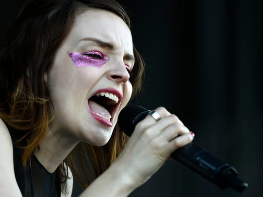 Lauren Mayberry of Chvrches performs at the Bonnaroo