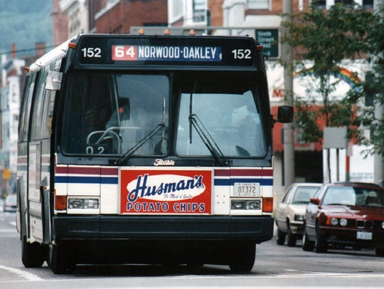 SEPTEMBER 1992: Metro bus, downtown Cincinnati. The