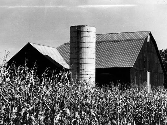 A farm in Wilmington, Ohio. Photo shot in 1971.