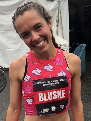 Samantha Bluske, after a sixth-place finish at the USA Half Marathon Championships.