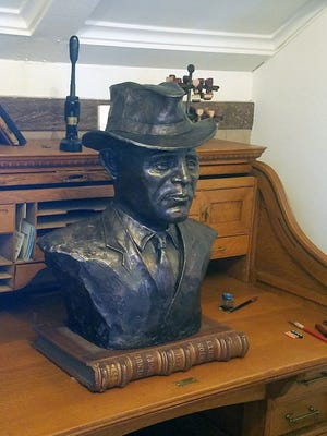 The bust of Sheriff Leland Fry is now on display at the Benton County Courthouse in Vinton. The sheriff was killed in the line of duty many years ago. The bust was unveiled at the Benton County Board of Supervisors meeting on Jan. 2. A display is planned at the courthouse.