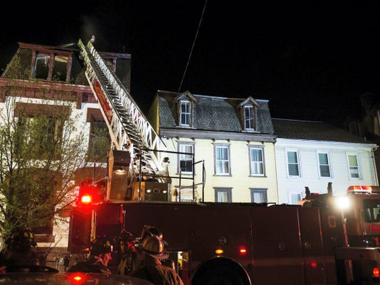 Lebanon fire crews battled a smoky two-alarm fire early Thursday morning. No one was injured. The fire commissioner said the fire started under a kitchen cabinet.