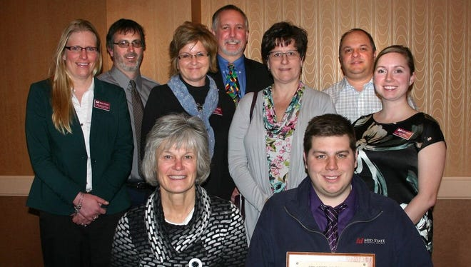 The Aqua Skiers received the Shining Star of the Year award during the Heart of Wisconsin Chamber of Commerce's annual meeting on Feb. 9.