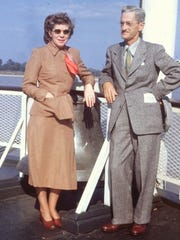 Glenn and Ida are standing on the deck of the Delta