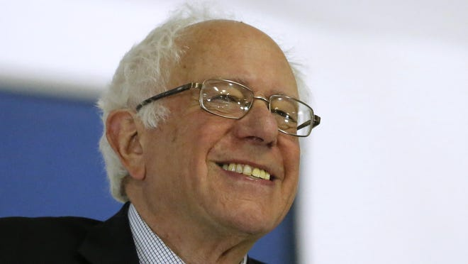 Democratic presidential candidate Sen. Bernie Sanders, I-Vt., speaks during a rally April 4 at a local union hall in Janesville, Wisconsin.