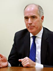 U.S. Senator Bob Casey (D-PA) speaks to the York Dispatch Editorial Board in West Manchester Township, Thursday, April 5, 2018. Dawn J. Sagert photo