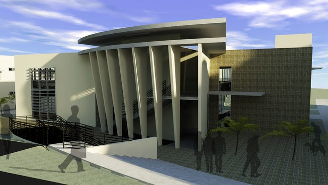This rendering depicts the future University of Guam School of Engineering Annex, which will be built adjacent to the existing Agriculture and Life Sciences building. The project is estimated to cost more than $3 million. Construction of the annex could begin this year.