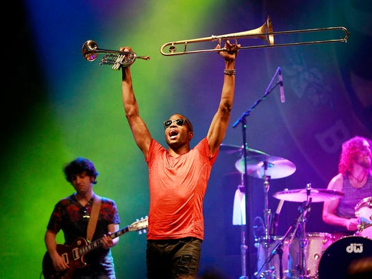 Trombone Shorty & Orleans Avenue perform during the