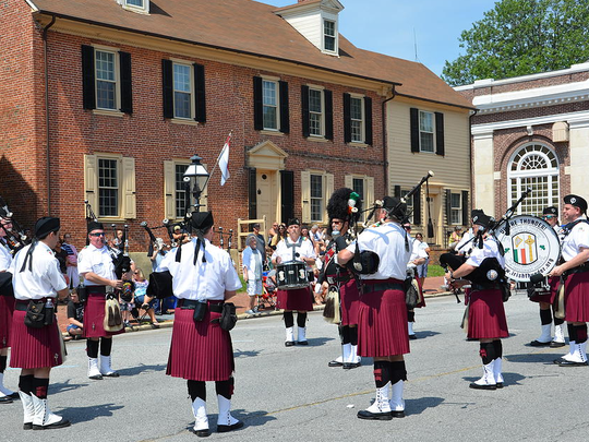 Separation Day in New Castle features all kinds of music, from these bagpipers shown last year, to live rock and a tribute to Frankie Valli.