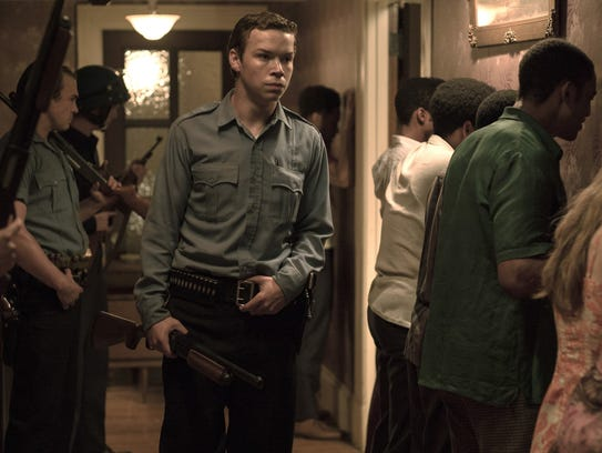 Will Poulter plays a violent police officer in 'Detroit.'