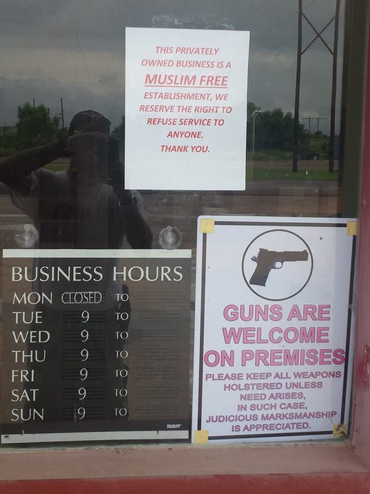 Muslim-free zone declared at Okla. gun store