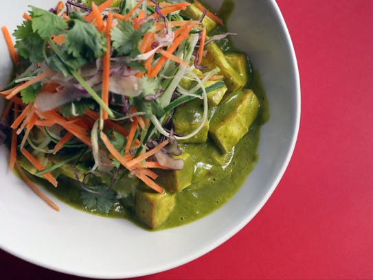 The Green Curry rice with tofu, at BC Kitchen in Poughkeepsie,