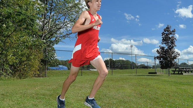 General McLane senior Dylan Throop, the defending PIAA Class 2A cross country champion, runs at the school on Sept. 4, 2020. He is the Erie Times-News District 10 Preseason Male Runner of the Year.