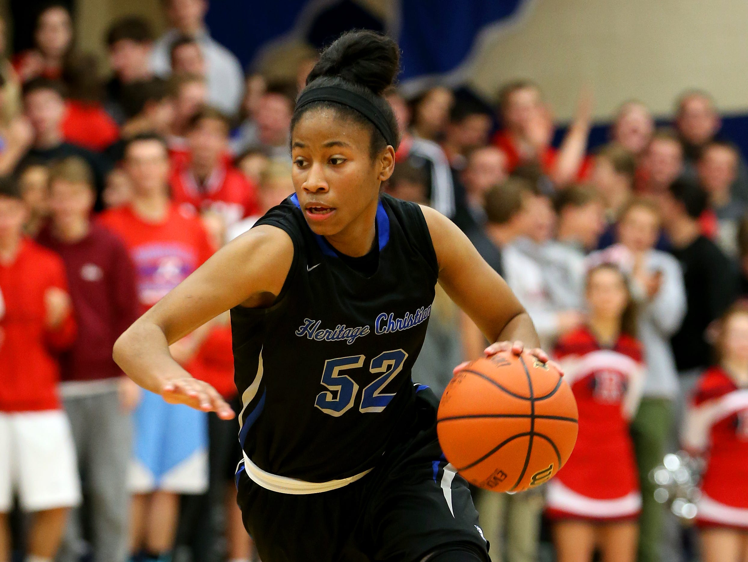 After back-to-back 2A state titles, Tyasha Harris and Heritage Christian will have to navigate Class 3A this February.