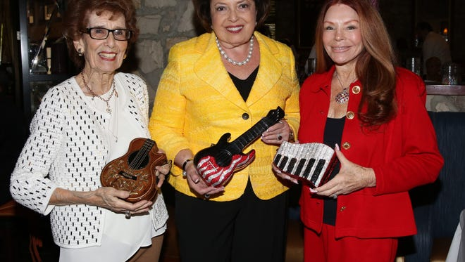 (left to right)  Founder of The Desert Symphony Marilyn Benachowski, board president and event co-chair Nancy Tapick, and co-chair Jo Ann Horwitz.
