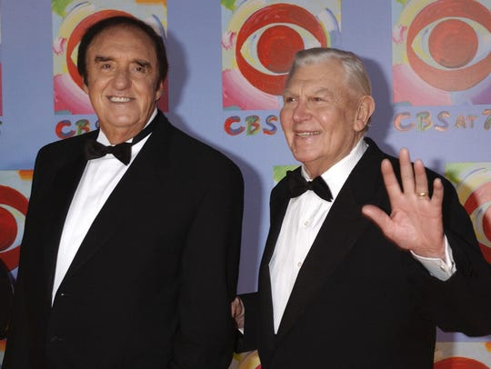 In this Nov. 2, 2003 file photo, Jim Nabors, left,