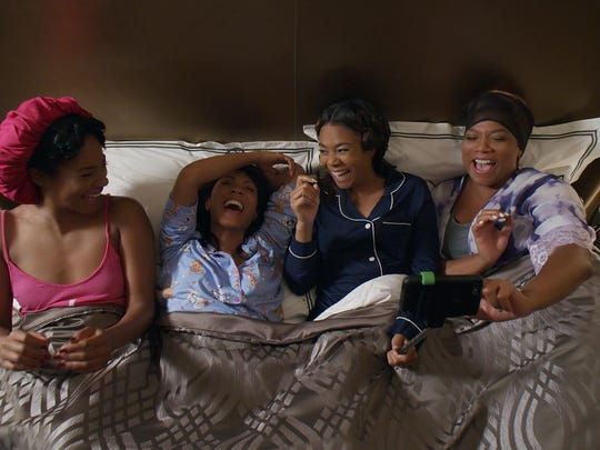 "Tiffany Haddish, Jada Pinkett Smith, Regina Hall and Queen Latifah star in ""Girls Trip."""
