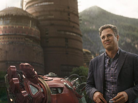 "This image released by Disney shows Mark Ruffalo as Bruce Banner in a scene from Marvel Studios' ""Avengers: Infinity War."" (Marvel Studios via AP)"