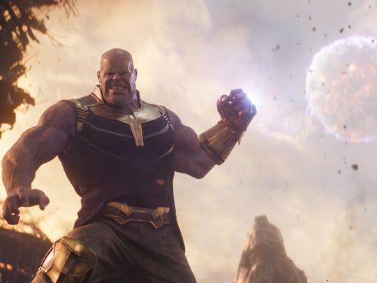 "Thanos (Josh Brolin) in Marvel Studios' ""Avengers: Infinity War."""