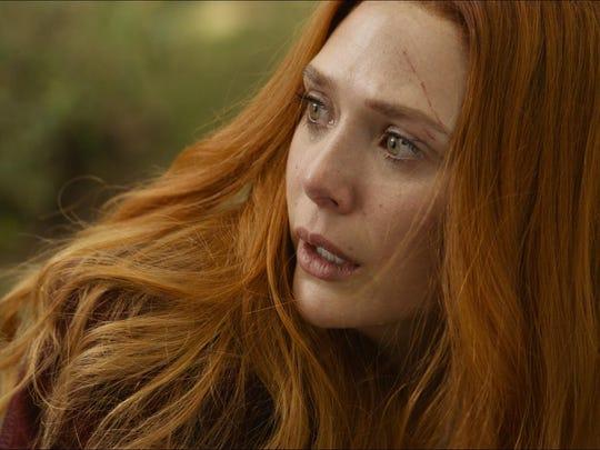 """Elizabeth Olsen in a scene from Marvel Studios' """"Avengers:"""