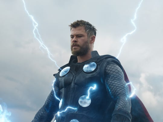 "Chris Hemsworth as Thor in Disney's ""Avengers: Endgame."""