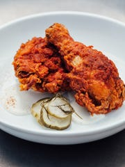 The fried chicken at Okra Cookhouse & Cocktails.