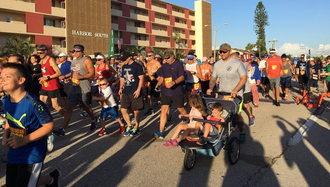 About 600 runners took part in Cape Coral's Freedom 5K on Tuesday, the Fourth of July