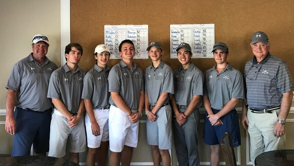 The Southside Christian School boys golf team finished