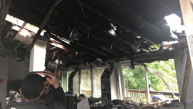 The Kitsap County Sheriff's Office provided this photo showing damage from a house fire in South Kitsap early Tuesday.