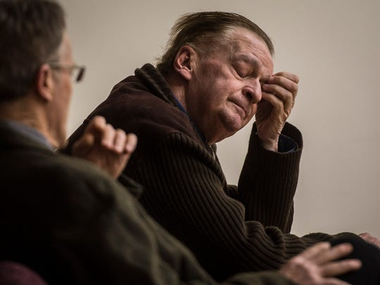 Andrew Cushing, who is disabled and lives at 101 College Street, a Burlington Housing Authority apartment building, appears in Vermont Superior Court on Friday, Jan. 13, 2017, for a civil trial. Cushing was on the brink of an eviction for lack of rent payments, but with the help of Vermont Legal Aid, COTS, and other community groups, was able to stay in his home.