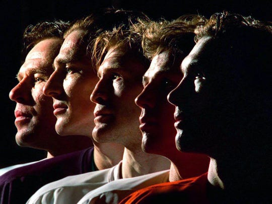 The Detroit Red Wings' Russian Five, from left: Slava Fetisov, Sergei Fedorov, Vladimir Konstantinov, Igor Larionov and Slava Kozlov.