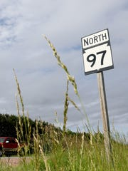 A truck approaches the intersection of Wood County AAA and State 97 outside of Marshfield, June 13, 2016.