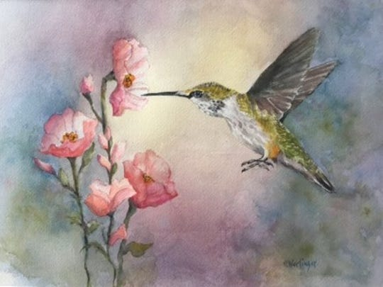 """""""Feeding Time"""" is among the paintings in the Central Minnesota Watercolorists show at the Paramount Center for the Arts. The show features work by 20 local artists. Paintings are on display through Dec. 2."""
