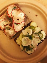 Open-faced Nordic sandwiches from The Great Northern